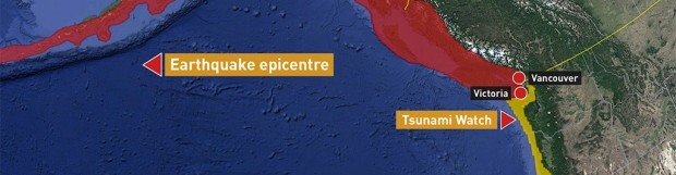 Tsunami warning ends for B.C. after large earthquake strikes off Alaska